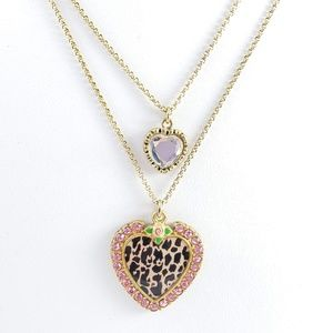 Betsey Johnson Jewelry - Betsey Johnson Necklace Double Strand Hearts